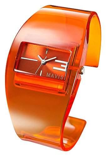 MAVIS Modische Damen Spangen-Uhr Orange 04897019