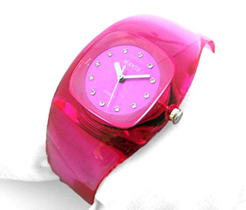 MAVIS Modische Damen Spangen Uhr Pink 03911030