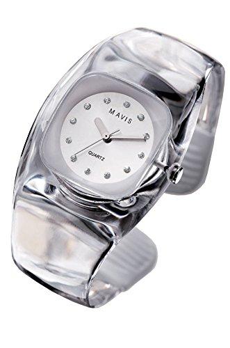 MAVIS Modische Damen Spangen Uhr Transparent 03911014