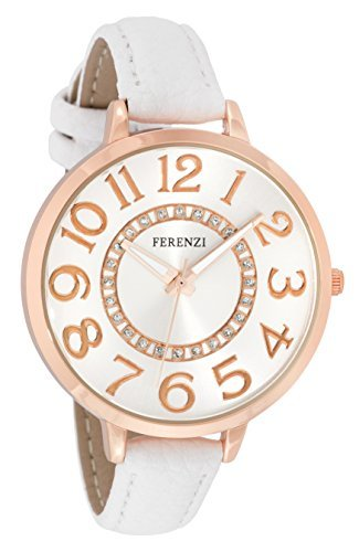 ferenzi Armband Weiss und Gehaeuse Rosa Gold fz17703