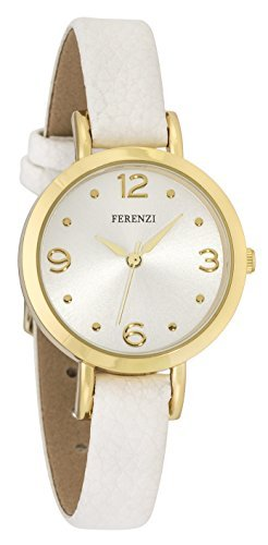 Ferenzi weisses Armband goldfarbenes Gehaeuse FZ17303