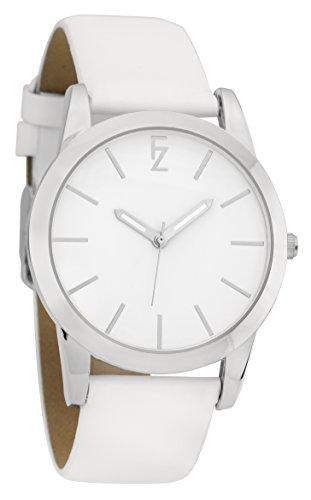 ferenzi Frauen zeigt einfach minimalistisch Silber mit Armband Weiss fz17502