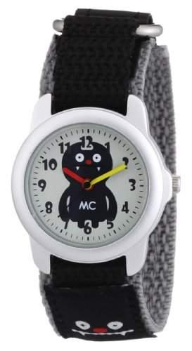 MC Timetrend Kinder-Armbanduhr Monster mit schwarzem Textilband, Analog Quarz 10312