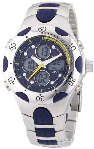 MC Timetrend Herren-Armbanduhr Analog - Digital Quarz Metallband 25038