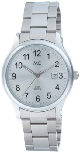MC Timetrend Herren-Armbanduhr mit Metallband mattglanz, Analog Quarz 26480