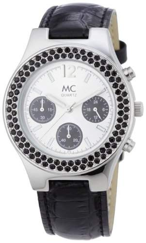 MC Timetrend Damen-Armbanduhr Analog Quarz Chrono-Optik Leder 26958