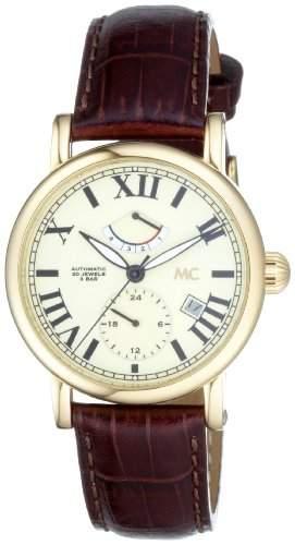 MC Timetrend Herren-Armbanduhr Analog Automatik Leder 25210