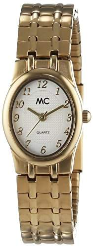 MC Timetrend Damen-Armbanduhr mit Metall-Flexband, goldfarben, Analog Quarz 11550