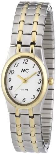 MC Timetrend Damen-Armbanduhr Analog Quarz Metall- Flexband 11551