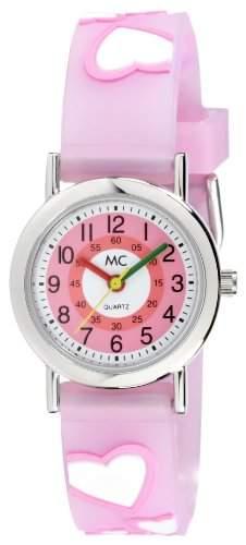 MC Timetrend Maedchen-Armbanduhr Herz Lernuhr Quarz Kunststoff 50104