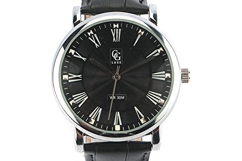 GG Luxe Zeigt Herren Stahl Armband Schwarz Boden schwarz EL PASO