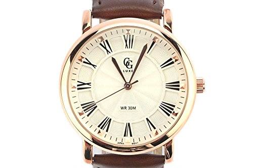 GG Luxe Zeigt Herren Gold Armband Leder braun EL PASO