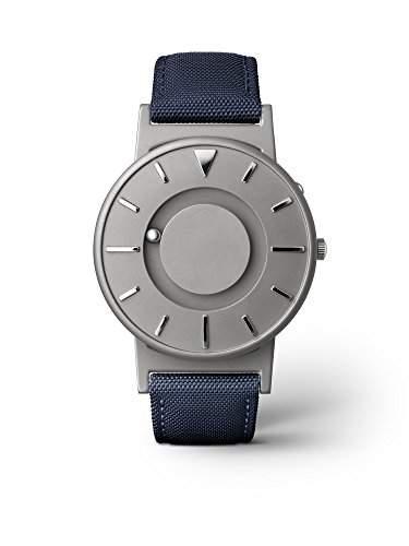eone BRADLEY CLASSIC Unisex Uhr - Leder Stoff Armband aqua