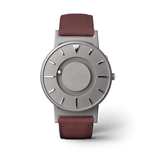 eone BRADLEY CLASSIC Unisex Uhr - Leder Stoff Armband crimson