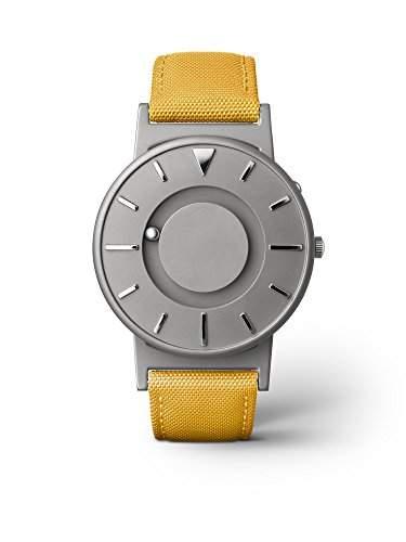 eone BRADLEY CLASSIC Unisex Uhr - Leder Stoff Armband mustard