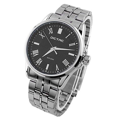 Dictac mit Edelstahl Uhrarmband Silber Uhrzeiger japanische Bewegung 31 Meter wasserdichte Business Watch