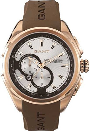 GANT Armbanduhr Milford W105811 Chronograph Kautschuck braun rosegold UVP 259EUR