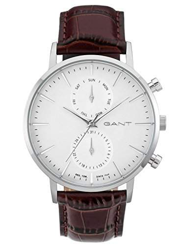 GANT TIME Herren-Armbanduhr PARK HILL DAY-DATE Analog Quarz Leder W11201