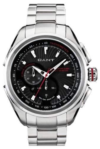 GANT Herren-Armbanduhr XL Analog Quarz Edelstahl W10582