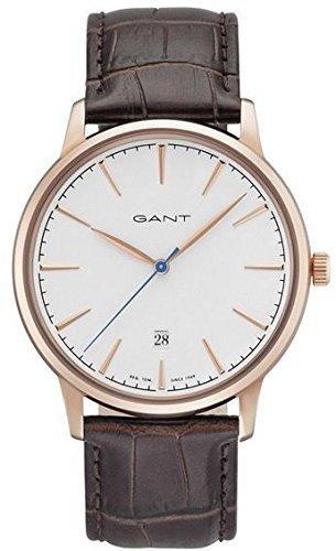 Gant Stanford Herren Armbanduhr braun rosegoldfarben weiss GT020003