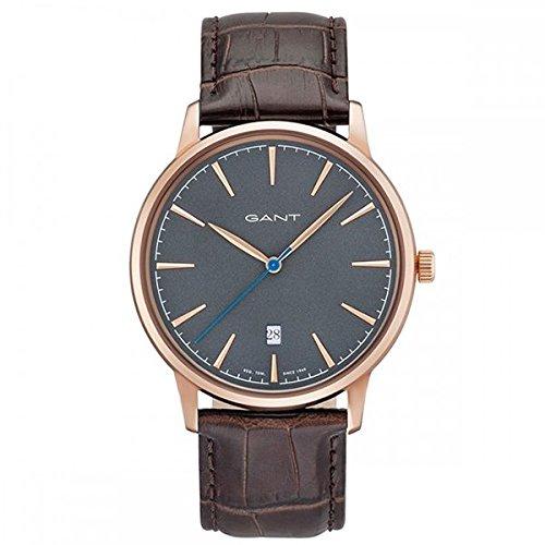 Gant Stanford Herren Armbanduhr braun rosegoldfarben grau GT020005