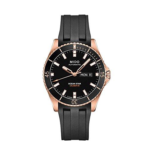 Mido Ocean Star Captain V 42 5mm Armband Kautschuk Schwarz Automatik M026 430 37 051 00