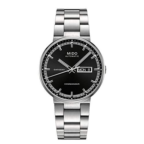 Mido Herren-Armbanduhr XL Commander II Analog Automatik Edelstahl M0144301105180