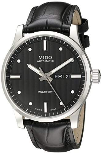 Mido Herren-Armbanduhr XL Multifort Analog Automatik Leder M0054301603181