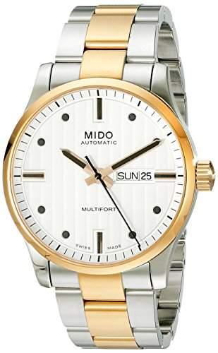 Mido Herren-Armbanduhr XL Multifort Analog Automatik Edelstahl M0054302203180