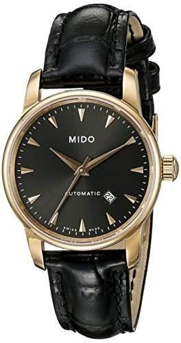 Mido Damen-Armbanduhr XS Baroncelli Analog Automatik Leder M76003134