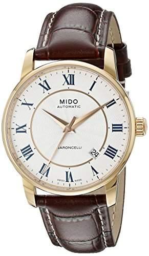 Mido Herren-Armbanduhr XL Baroncelli Analog Automatik Leder M86002218