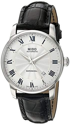 Mido Herren-Armbanduhr BARONCELLI Analog Automatik Leder M86004214