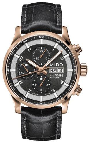 Mido Multifort 44mm Armband Leder Schwarz Saphirglas Automatik Analog M005 614 36 062 52
