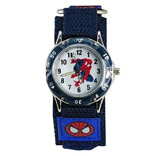 Thalia SAGUN Kinder Spider Man Wasser Widerstand Spiderman Armbanduhr Schnell Wrap Klettverschluss Jungen Maedchen Kinder Geburtstag Geschenk Uhren