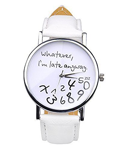 Minetom Damen Mode Handgelenk Uhr Quarz Watsh Jahrgang Geburtstag Geschenke Unisex Uhren Weiss