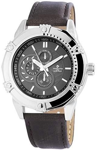 Timento Analog Damen Herrenuhr Herren Unisex Uhr Armbanduhr Silberfarben Anthrazit Schwarz