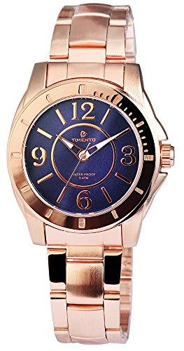 Analog Uhr mit Edelstahlarmband Blau 510033000019