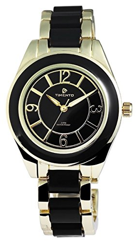 Timento Analog Metall 38 mm Gold Schwarz 510001000005