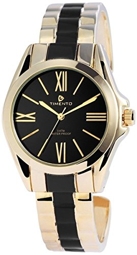 Timento Analog Metall 37 mm Gold Schwarz 510001000029