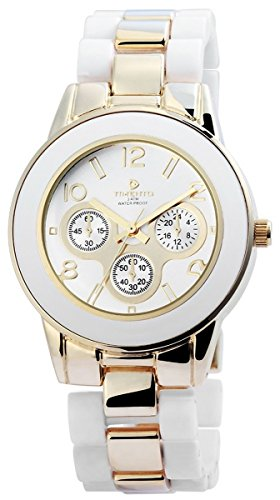 Timento Analog Damenuhr Metall 39 mm Gold Silber 510002600006
