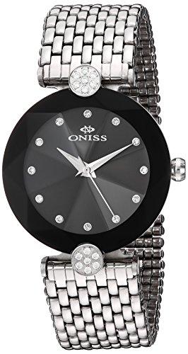 Oniss Facet ll 35 03mm Armband Edelstahl Gehaeuse Schweizer Quarz Analog on8777 LBK