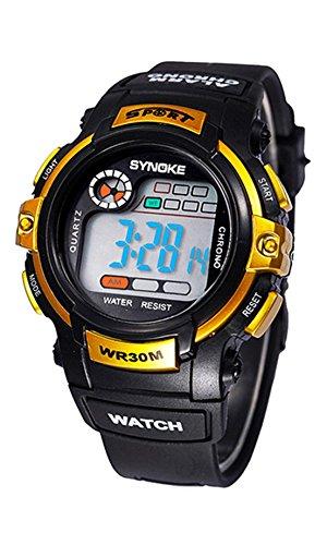 SYNOKE Multifunktion Alarm Tag Datum Armbanduhr golden