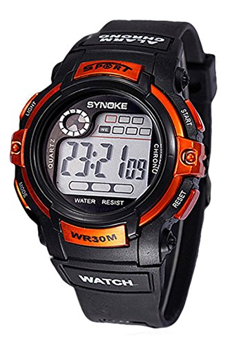 SYNOKE Multifunktion Alarm Tag Datum Armbanduhr orange