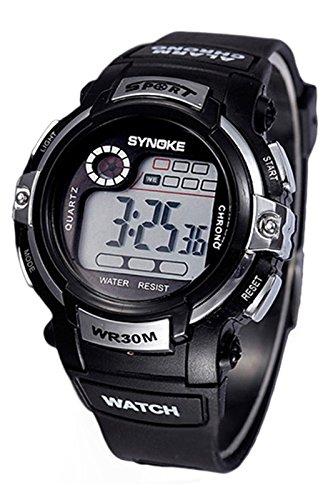 SYNOKE Multifunktion Alarm Tag Datum Armbanduhr silber