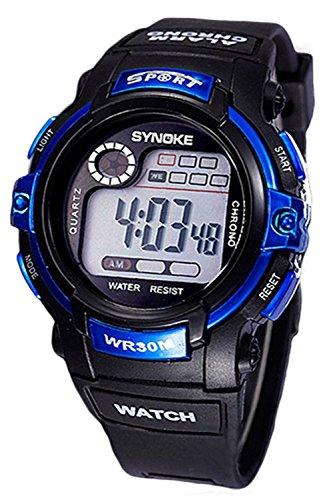 SYNOKE Multifunktion Alarm Tag Datum Armbanduhr Blau