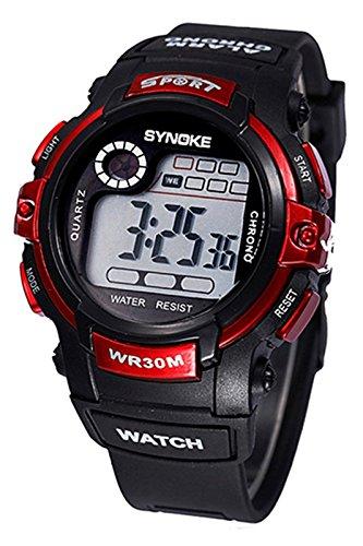SYNOKE Multifunktion Alarm Tag Datum Armbanduhr rot