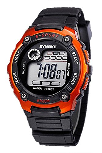 SYNOKE Multifunktion Unisex Sport Digitale Uhr orange