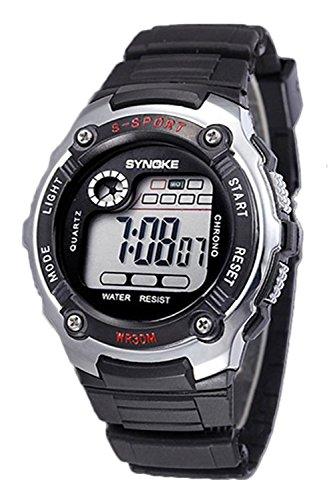SYNOKE Multifunktion Unisex Sport Digitale Uhr silber