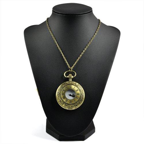 Gleader Antiker Roemischer Halskette Taschenuhr
