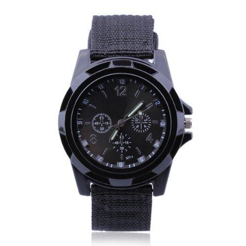 Gleader Armbanduhr Sportuhr Quarzuhr Nylon Geflochten Watch Trend Mode Modern